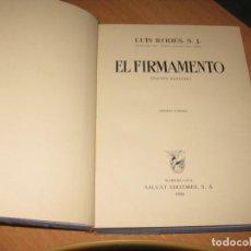 Libros antiguos: EL FIRMAMENTO LUIS RODES, S.J.. Lote 202961962