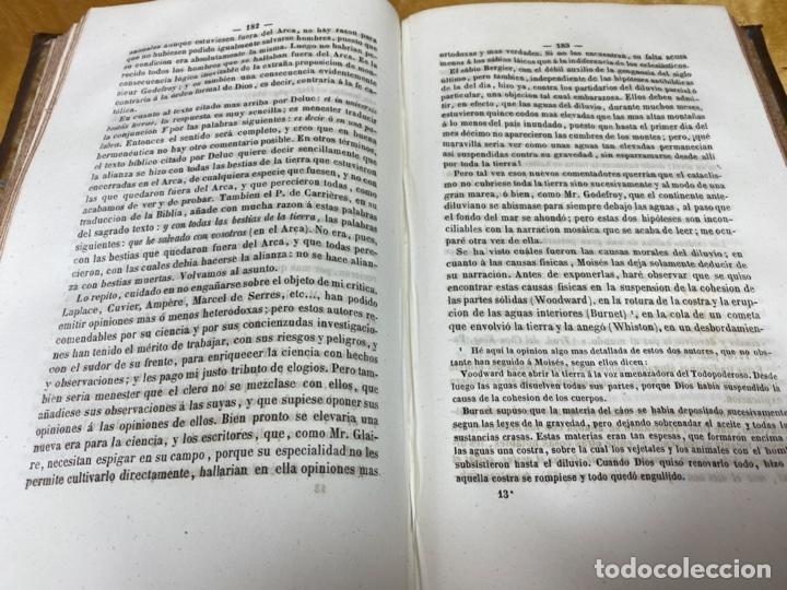 Libros antiguos: AÑO 1854.- TEORÍA BIBLICA DE LA COSMOGONÍA Y DE LA GEOLOGÍA. DEBREYNE. COSMOLOGÍA. - Foto 3 - 203980890