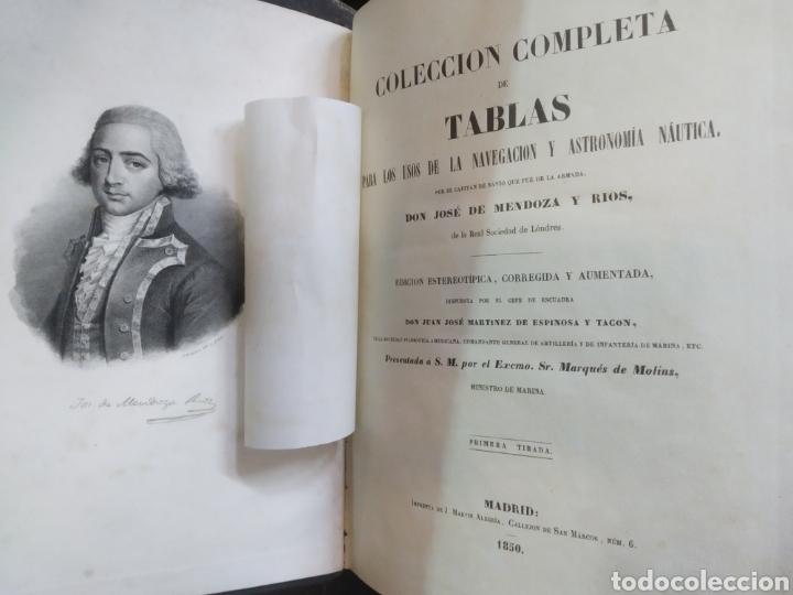 Libros antiguos: Colección completa de Tablas para los usos de la navegación y astronomía náutica. MENDOZA. 1850 - Foto 4 - 204181575