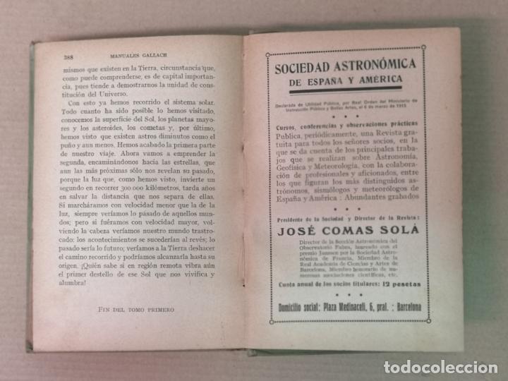 Libros antiguos: ASTRONOMÍA JOSÉ COMAS SOLA MANUALES GALLACH - Foto 10 - 206312501