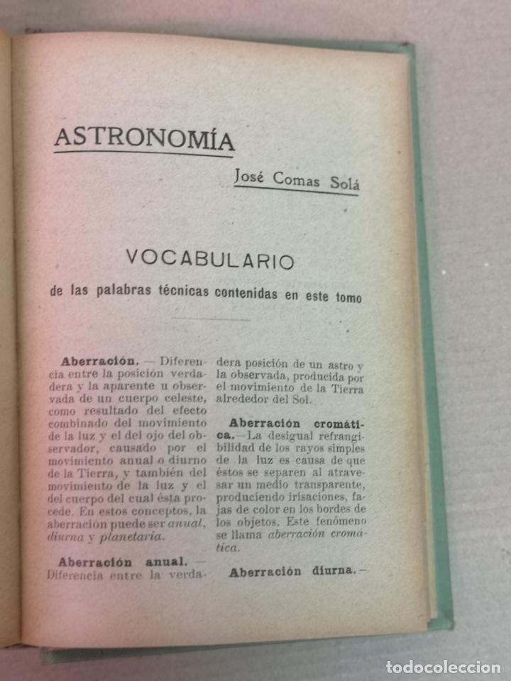 Libros antiguos: ASTRONOMÍA JOSÉ COMAS SOLA MANUALES GALLACH - Foto 18 - 206312501