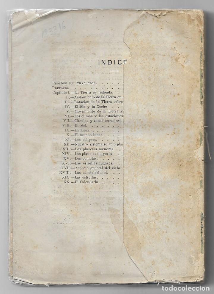Libros antiguos: Astronomia Popular. La Tierra y el Cielo. 1879. Flammarion, Camilo. - Foto 2 - 206809213
