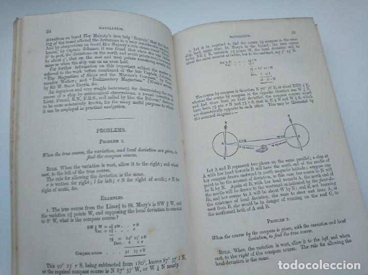 Libros antiguos: TRATADO DE NAVEGACIÓN Y ASTRONOMÍA NÁUTICA (1871) - NAVIGATION AND NAUTICAL ASTRONOMY - JOHN RIDDLE - Foto 5 - 208290083
