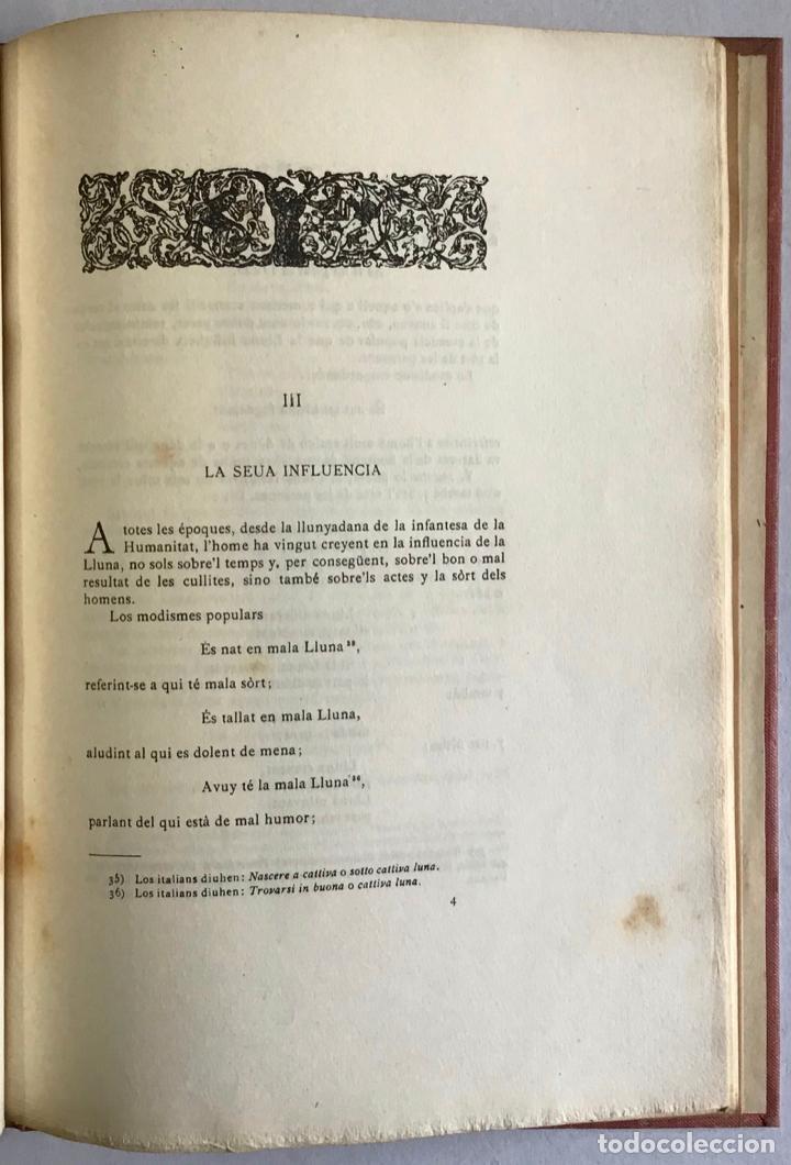 Libros antiguos: LA LLUNA SEGONS LO POBLE. - GOMIS, Cels. - Foto 3 - 123196088