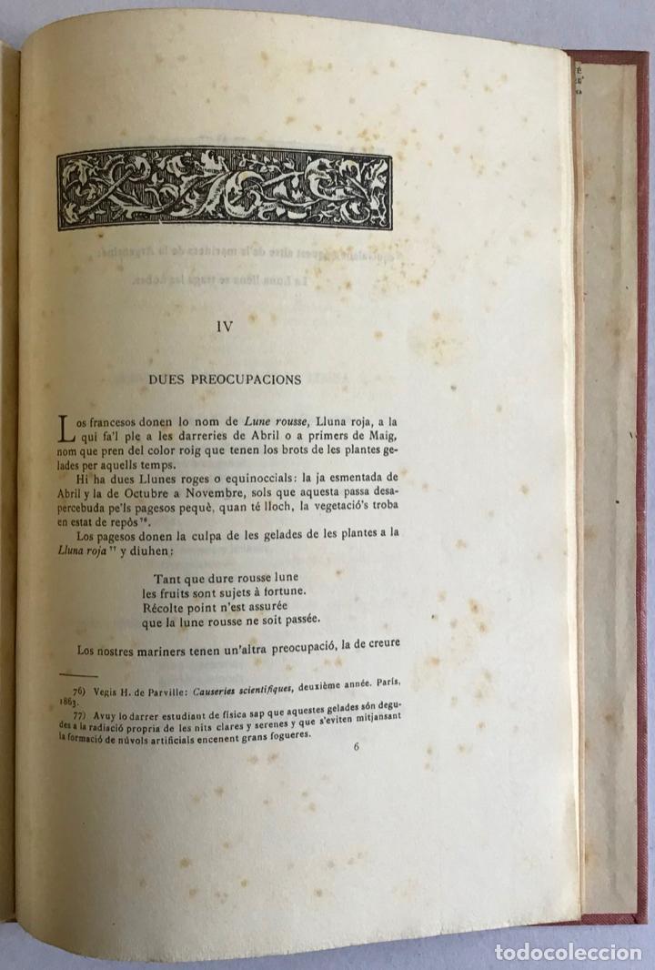 Libros antiguos: LA LLUNA SEGONS LO POBLE. - GOMIS, Cels. - Foto 4 - 123196088