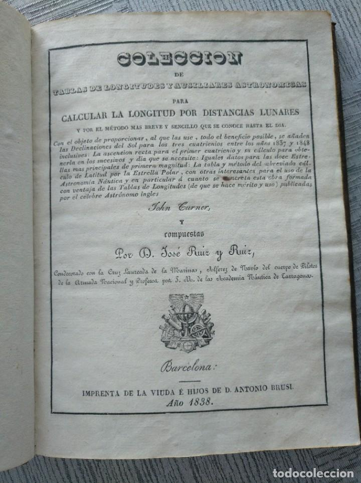 RARO: COLECCIÓN DE TABLAS DE LONGITUDES Y AUSILIARES ASTRONÓMICAS... (1838) (Libros Antiguos, Raros y Curiosos - Ciencias, Manuales y Oficios - Astronomía)