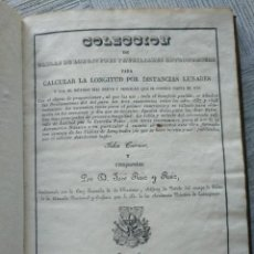 Libros antiguos: RARO: COLECCIÓN DE TABLAS DE LONGITUDES Y AUSILIARES ASTRONÓMICAS... (1838). Lote 214571322