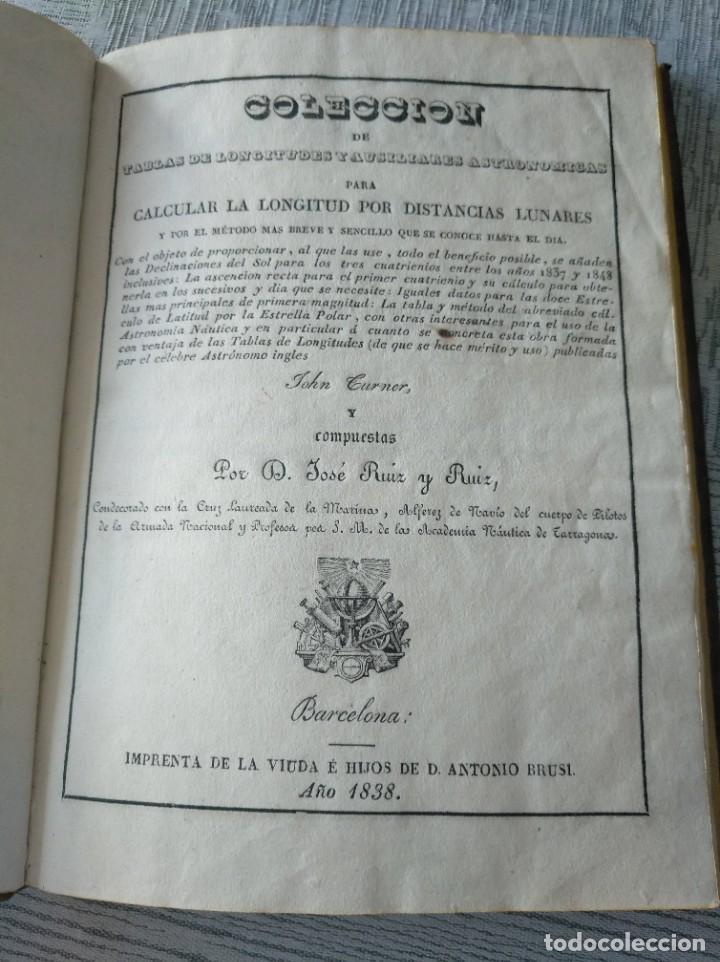 Libros antiguos: RARO: COLECCIÓN DE TABLAS DE LONGITUDES Y AUSILIARES ASTRONÓMICAS... (1838) - Foto 5 - 214571322
