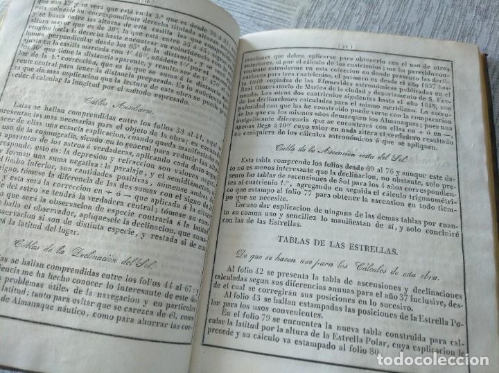 Libros antiguos: RARO: COLECCIÓN DE TABLAS DE LONGITUDES Y AUSILIARES ASTRONÓMICAS... (1838) - Foto 10 - 214571322