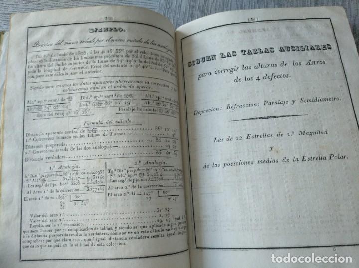 Libros antiguos: RARO: COLECCIÓN DE TABLAS DE LONGITUDES Y AUSILIARES ASTRONÓMICAS... (1838) - Foto 13 - 214571322