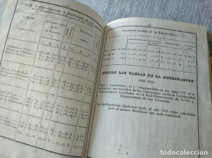 Libros antiguos: RARO: COLECCIÓN DE TABLAS DE LONGITUDES Y AUSILIARES ASTRONÓMICAS... (1838) - Foto 14 - 214571322