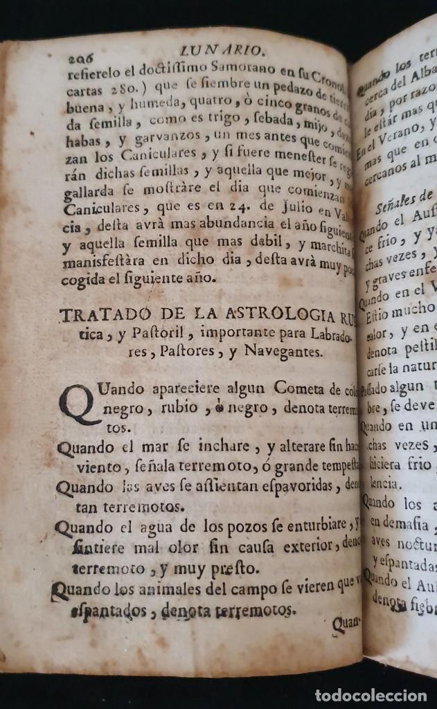Libros antiguos: LUNARIO Y PRONOSTICO PERPETUO - 1768 - GERONIMO CORTÈS - GRABADOS - BUEN ESTADO. - Foto 3 - 217905183