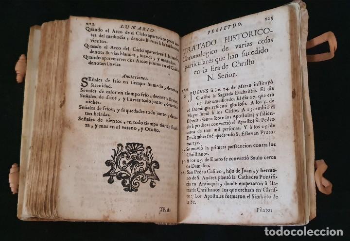 Libros antiguos: LUNARIO Y PRONOSTICO PERPETUO - 1768 - GERONIMO CORTÈS - GRABADOS - BUEN ESTADO. - Foto 7 - 217905183
