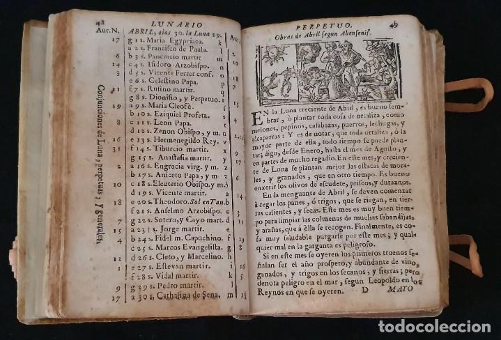 Libros antiguos: LUNARIO Y PRONOSTICO PERPETUO - 1768 - GERONIMO CORTÈS - GRABADOS - BUEN ESTADO. - Foto 8 - 217905183