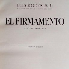 Libros antiguos: EL FIRMAMENTO. LUIS RODES, S. J. SALVAT 1934.. Lote 218163328