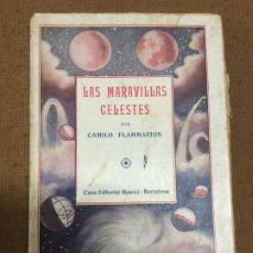 Libros antiguos: LAS MARAVILLAS CELESTES - TOMO II - CAMILO FLAMMARION - 57 GRABADOS - 201P. 19X13. Lote 219485243