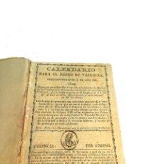 Libros antiguos: CALENDARIO PARA EL REINO DE VALENCIA. DESDE 1829 A 1848. IMPRENTA LIBRERÍA CABRERIZO.. Lote 219722657