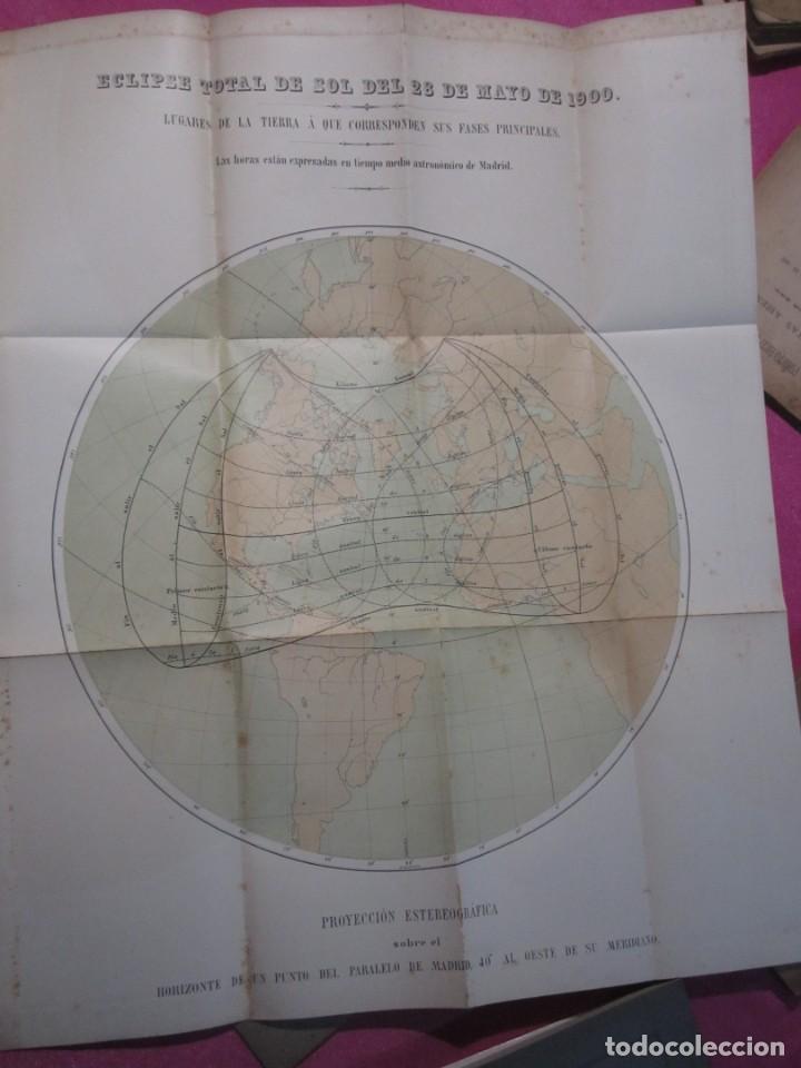 Libros antiguos: MEMORIA SOBRE EL ECLIPSE TOTAL DE SOL OBSERVATORIO ASTRONOMICO DE MADRID 1899 - Foto 3 - 222396782
