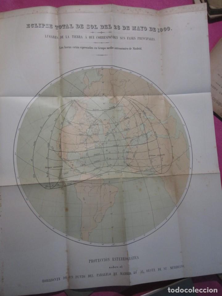 Libros antiguos: MEMORIA SOBRE EL ECLIPSE TOTAL DE SOL OBSERVATORIO ASTRONOMICO DE MADRID 1899 - Foto 5 - 222396782