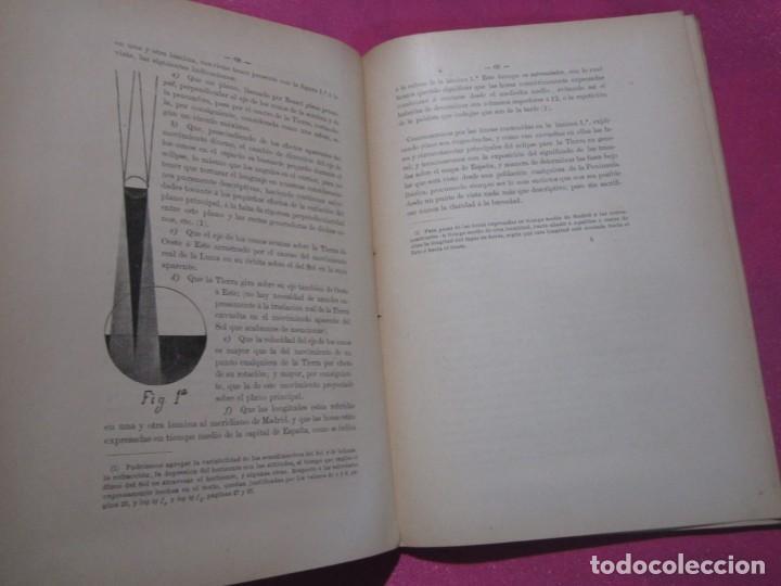 Libros antiguos: MEMORIA SOBRE EL ECLIPSE TOTAL DE SOL OBSERVATORIO ASTRONOMICO DE MADRID 1899 - Foto 7 - 222396782