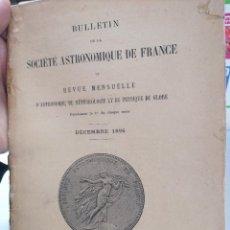 Libros antiguos: BULLETIN DE LA SOCIÉTÉ ASTRONOMIQUE DE FRANCE. DECEMBER 1896. Lote 223889532