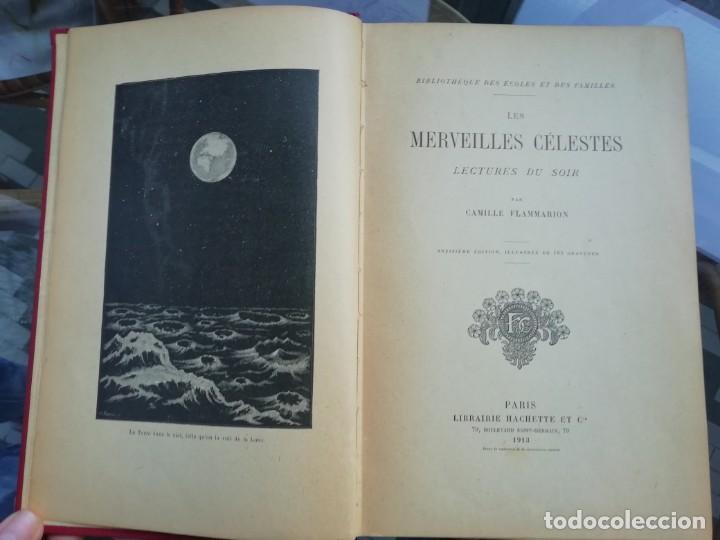 LES MERVEILLES CÉLESTES ED. 1913 TAPAS DURAS CON PROFUSA DECORACIÓN DORADA Y MALVA. EN FRANCÉS (Libros Antiguos, Raros y Curiosos - Ciencias, Manuales y Oficios - Astronomía)
