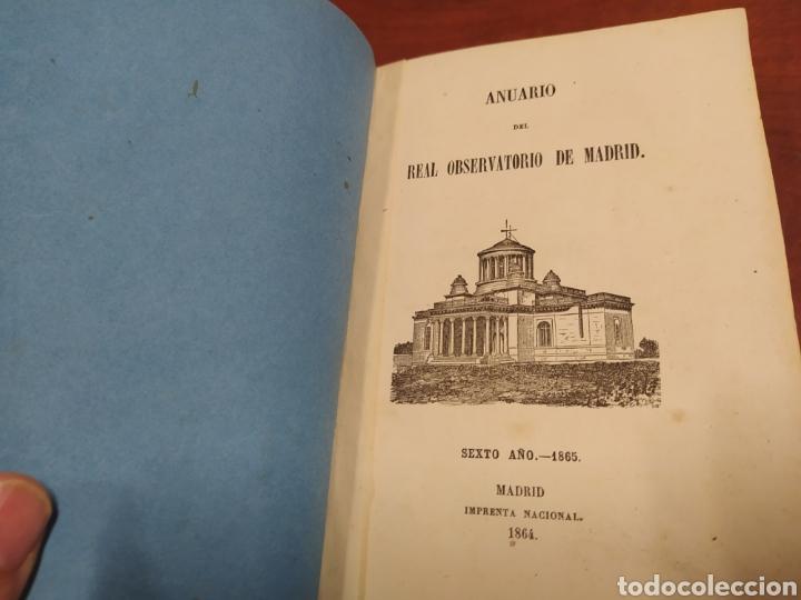 Libros antiguos: Real Observatorio de Madrid 1865. - Foto 3 - 231382370