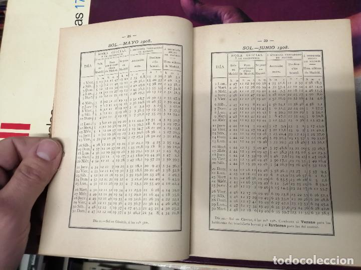 Libros antiguos: ANUARIO DEL OBSERVATORIO DE MADRID PARA 1908 . IMPRENTA DE BAILLY. 1907. PLANETAS, FENÓMENOS SOLARES - Foto 5 - 234411120