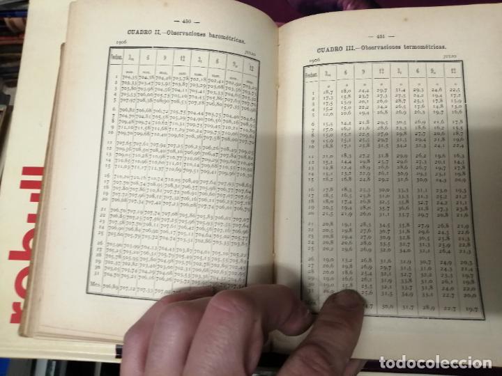 Libros antiguos: ANUARIO DEL OBSERVATORIO DE MADRID PARA 1908 . IMPRENTA DE BAILLY. 1907. PLANETAS, FENÓMENOS SOLARES - Foto 18 - 234411120