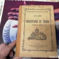 Libros antiguos: ANUARIO DEL OBSERVATORIO DE MADRID PARA 1908 . IMPRENTA DE BAILLY. 1907. PLANETAS, FENÓMENOS SOLARES. Lote 234411120
