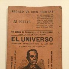 Livros antigos: EL UNIVERSO - CALENDARIO ZARAGOZANO PARA 1929 - EL CELEBRE ASTRONOMO NANDO - 34P. 14X10. Lote 236173505