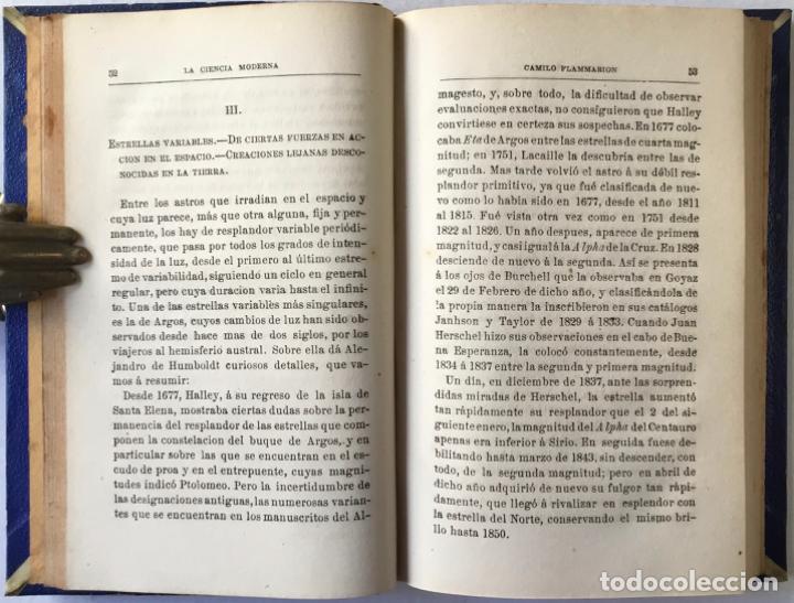 Libros antiguos: VIAJE POR EL ESPACIO. ÚLTIMOS ESTUDIOS ASTRONÓMICOS. - FLAMMARION, Camilo. - Foto 4 - 237453225