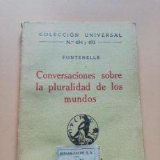 Libros antiguos: CONVERSACIONES SOBRE LA PLURALIDAD DE LOS MUNDOS. FONTENELLE. 1921. PAG. 153.. Lote 240436100
