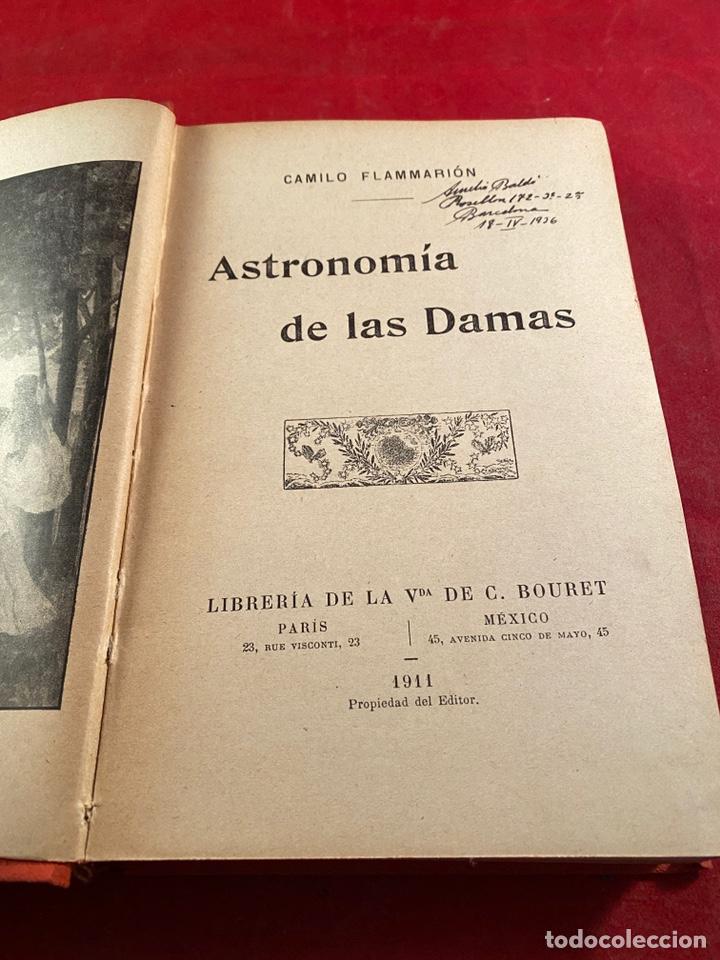 Libros antiguos: ASTRONOMÍA DE LAS DAMAS 1911 - Foto 2 - 243356995