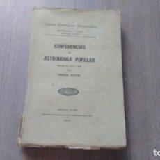 Libros antiguos: CONFERENCIAS DE ASTRONOMIA POPULAR - CAMILO MEYER. Lote 246022300