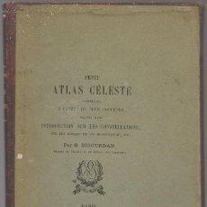 Libros antiguos: ASTRONOMÍA , BIGOURDAN ,PETIT ATLAS CELESTE 5 CARTES A DEUX COULEURS,. Lote 254769470