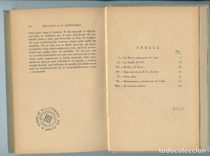 Libros antiguos: Iniciación a la Astronomía (W H Steavenson, 1934) Ed. Apolo - Foto 5 - 255936745