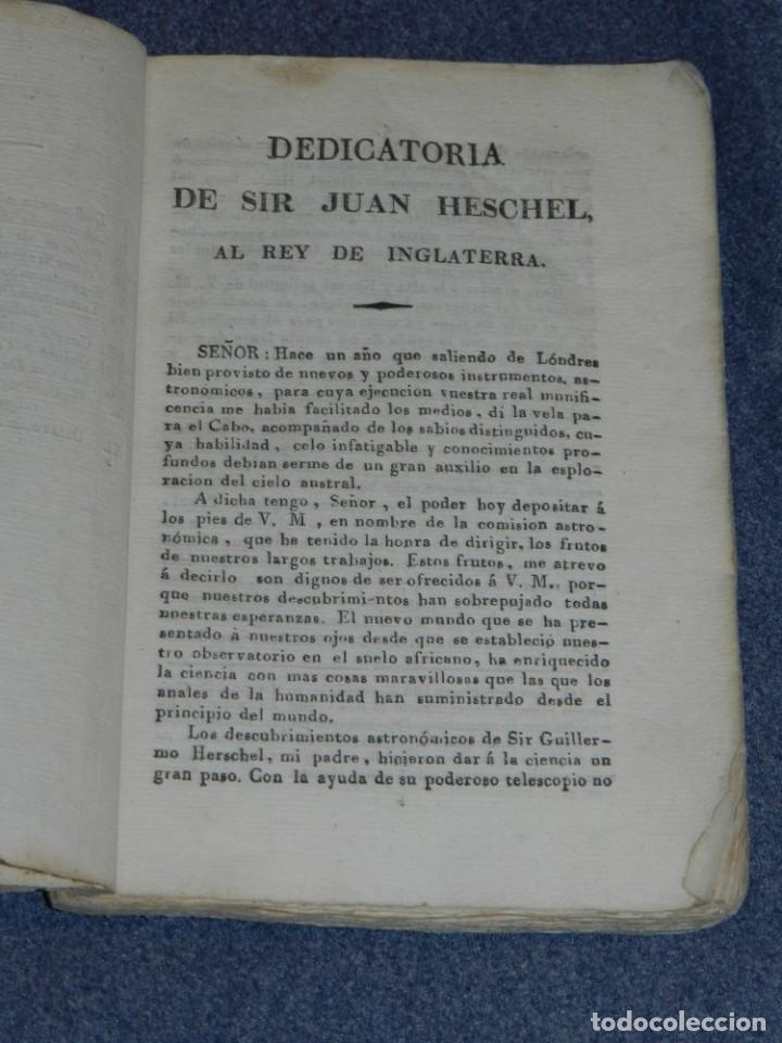 Libros antiguos: (MF) JUAN HESCHEL - PUBLICACION COMPLETA DESCUBRIMIENTOS EN EL CIELO AUSTRAL Y EN LA LUNA CADIZ 1837 - Foto 3 - 257473830