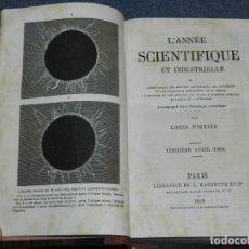 Libros antiguos: (MF) LOUIS FIGUIER - L'ANNÉE SCIENTIFIQUE ET INDUSTRIALLE, PARIS, HACHETTE 1868 ASTRONOMIA. Lote 257475370