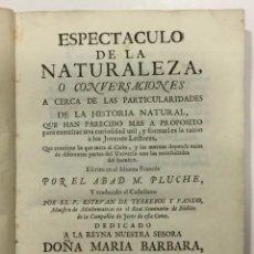 Libros antiguos: ESPECTACULO DE LA NATURALEZA TOMO VII. PARTE QUARTA 1754. ASTRONOMIA. Lote 261234240
