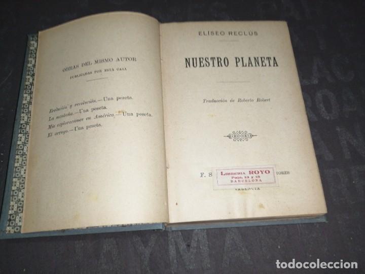 NUESTRO PLANETA. ELISEO RECLUS (Libros Antiguos, Raros y Curiosos - Ciencias, Manuales y Oficios - Astronomía)
