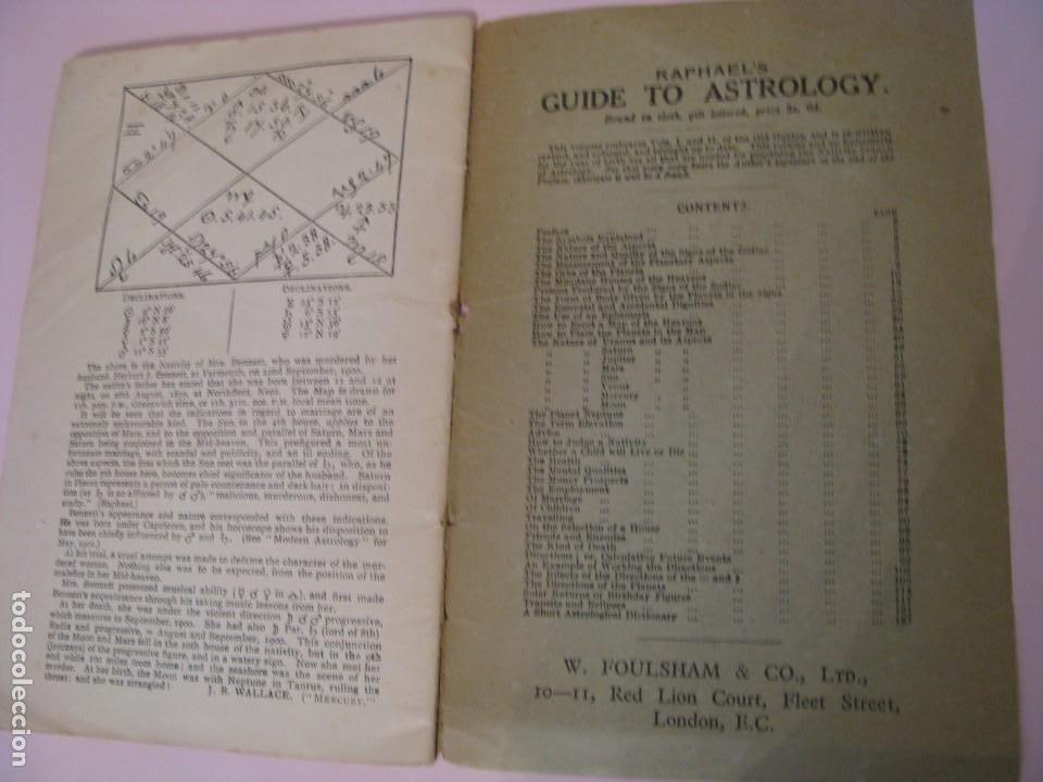 Libros antiguos: RAPHAELS ASTRONOMICAL EPHEMERIS PLANETS PLACES FOR 1902, LONDON & NEW YORK. - Foto 5 - 261353995