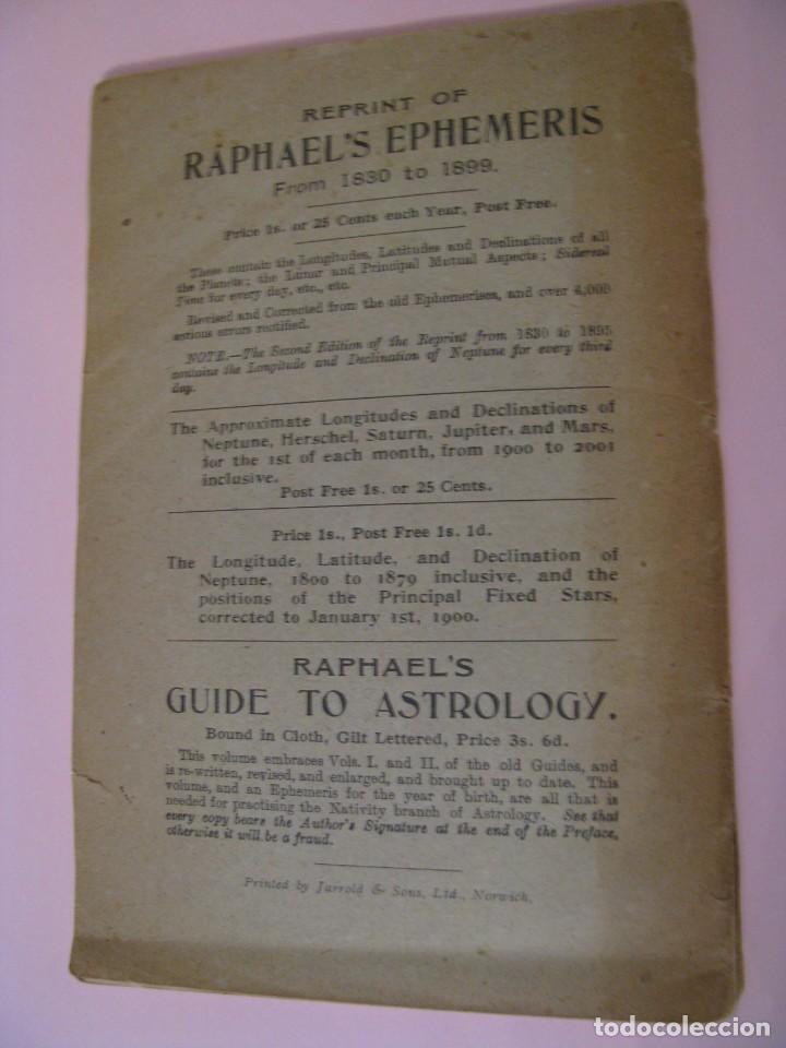 Libros antiguos: RAPHAELS ASTRONOMICAL EPHEMERIS PLANETS PLACES FOR 1902, LONDON & NEW YORK. - Foto 6 - 261353995