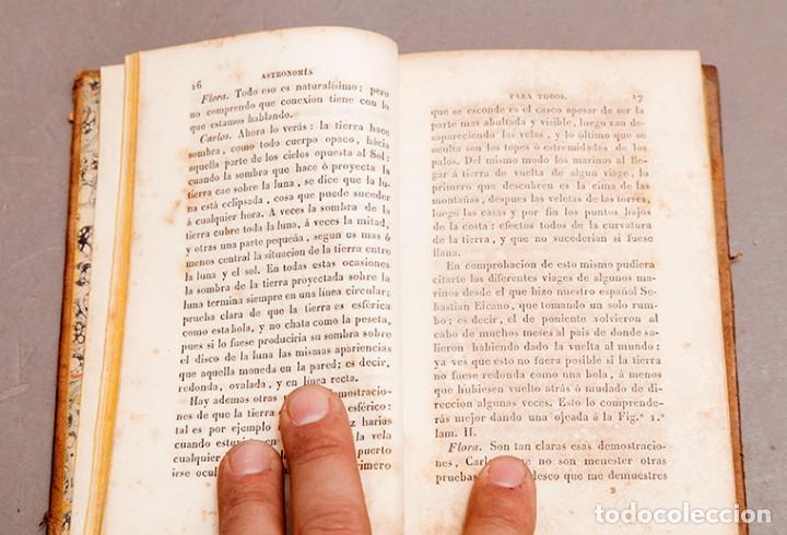 Libros antiguos: Astronomía para todos - Oliva Gerona - 1829 - José Ciganal y Angulo - Foto 7 - 267198984