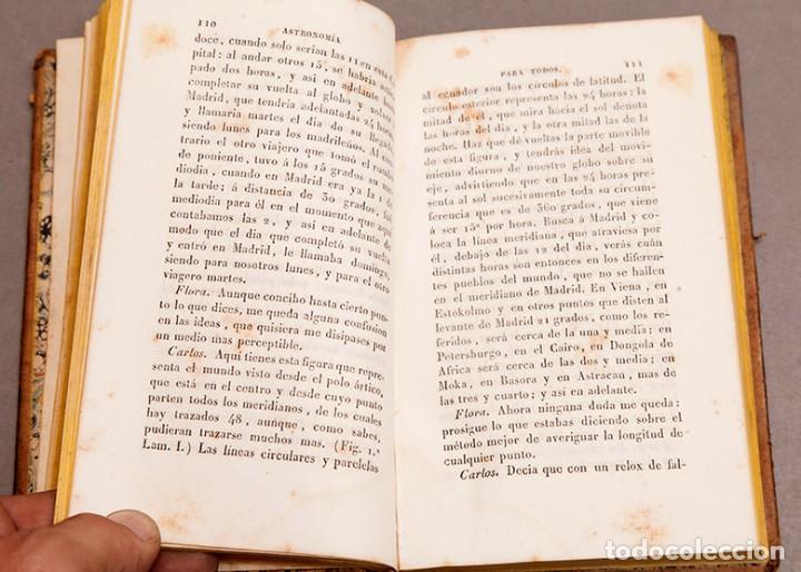 Libros antiguos: Astronomía para todos - Oliva Gerona - 1829 - José Ciganal y Angulo - Foto 9 - 267198984