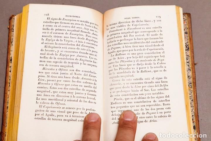 Libros antiguos: Astronomía para todos - Oliva Gerona - 1829 - José Ciganal y Angulo - Foto 10 - 267198984