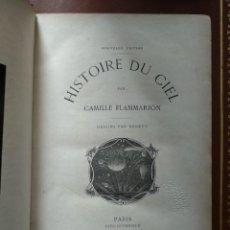 Libros antiguos: HISTOIRE DU CIEL PAR CAMILLE FLAMMARION. Lote 269651333
