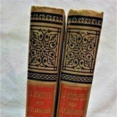 Libros antiguos: LA ATMÓSFERA.POR CAMILO FLAMMARIÓN.2 VOLUÚMENES.MONTANER Y SIMÓN,EDITORES.1902. Lote 271000823