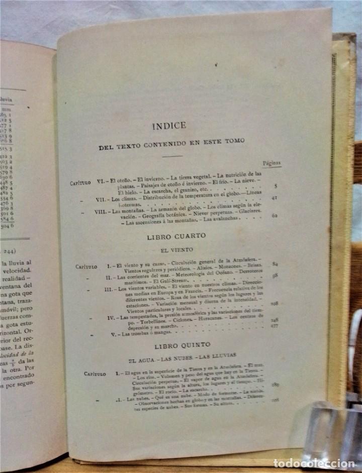 Libros antiguos: LA ATMÓSFERA.POR CAMILO FLAMMARIÓN.2 VOLUÚMENES.MONTANER Y SIMÓN,EDITORES.1902 - Foto 17 - 271000823