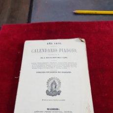 Libros antiguos: CALENDARIO PIADOSO DEL AÑO 1870 ASTRONOMÍA MÁS MÚLTIPLES TEMAS QUE PASARON EN EL 1869. Lote 276637258